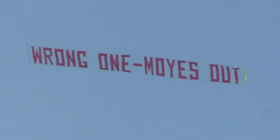 The Anti-Moyes banner made its...