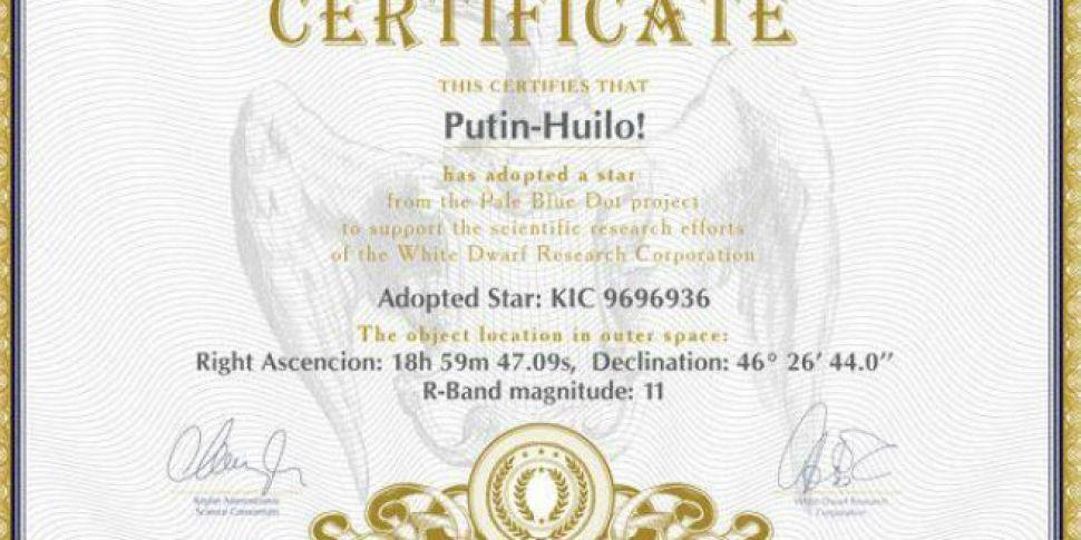 Ukrainian astronomers name the...