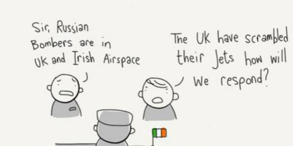 This cartoon offers a very Irish response to Russian bombers