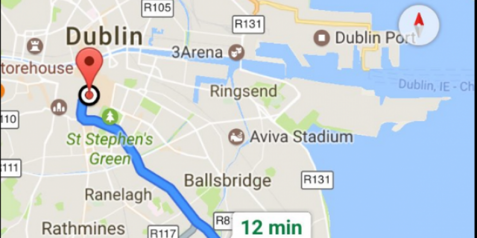 Map Of Ireland Near Dublin.How Does Google Maps Help Tackle Traffic In Ireland Newstalk