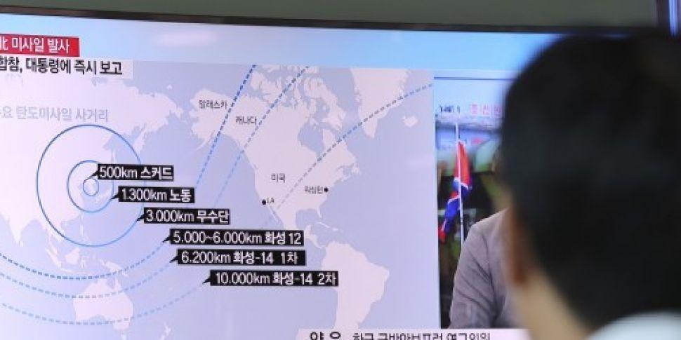 North Korea fires three short-...
