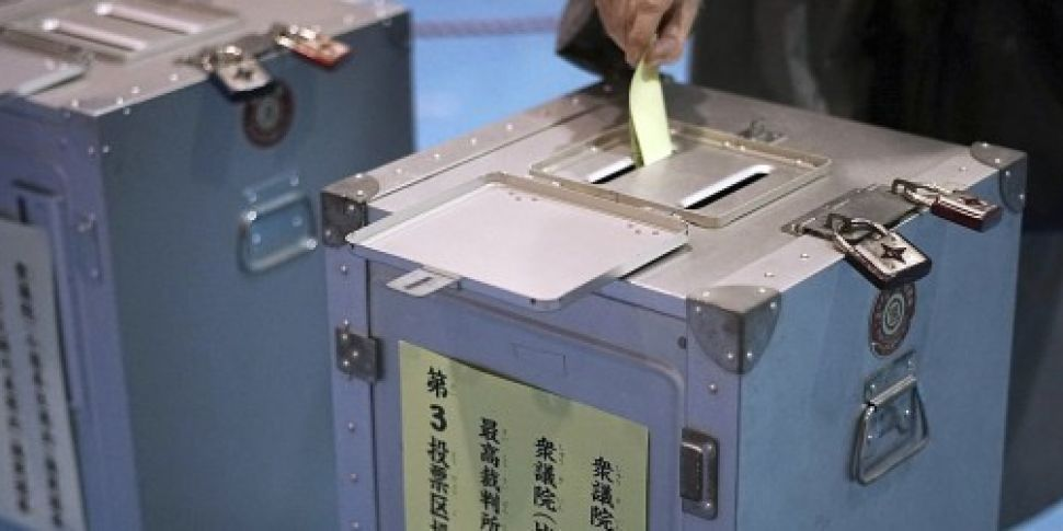 Exit polls from Japanese elect...