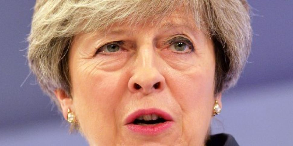 UK PM Theresa May talks with S...