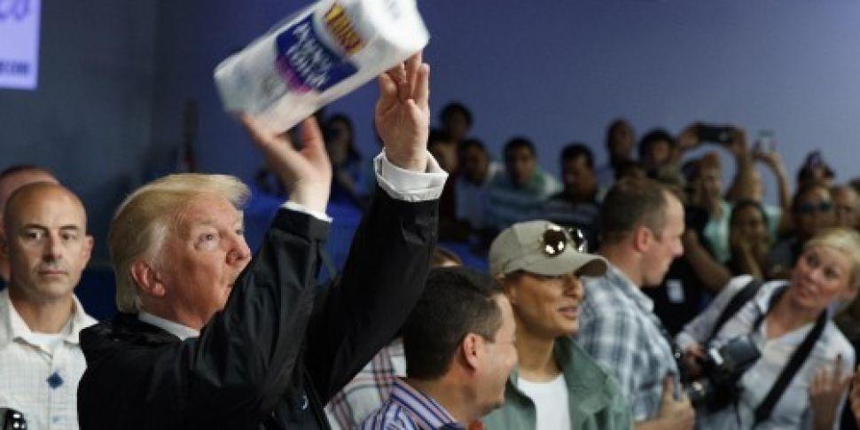 WATCH: Trump throws paper towe...