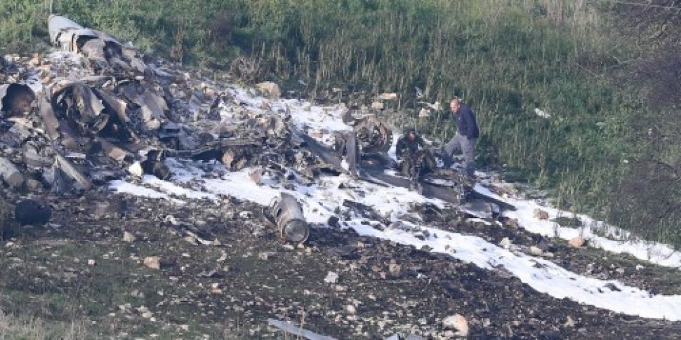 Israeli jet crashes after comi...