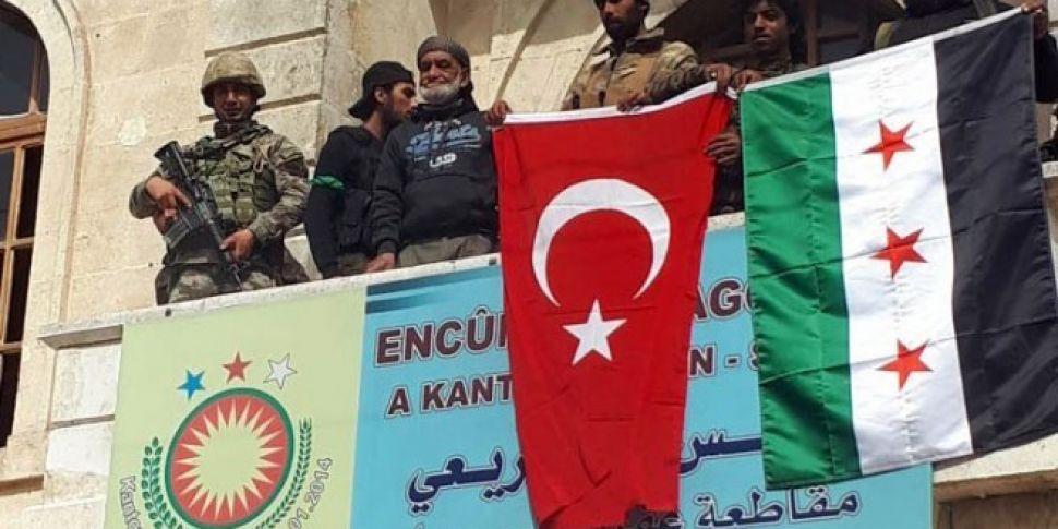 Turkey says control of Syrian...