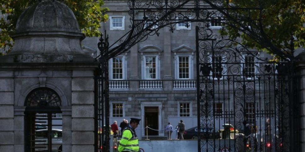 Protests outside Leinster Hous...