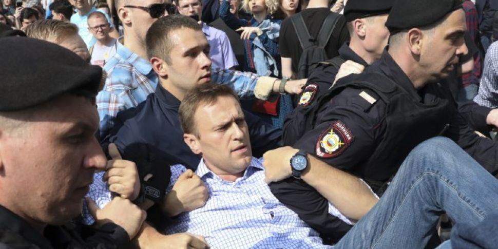 Anti-Putin protests take place...