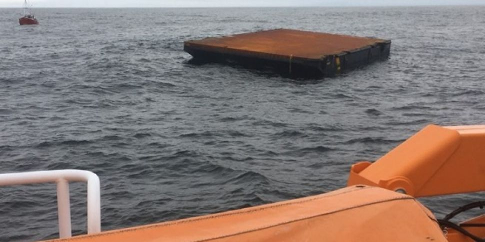 Barge towed to safety in Mayo...