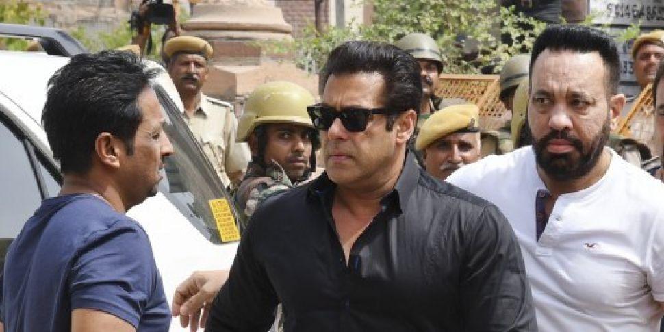 Bollywood star Salman Khan jai...
