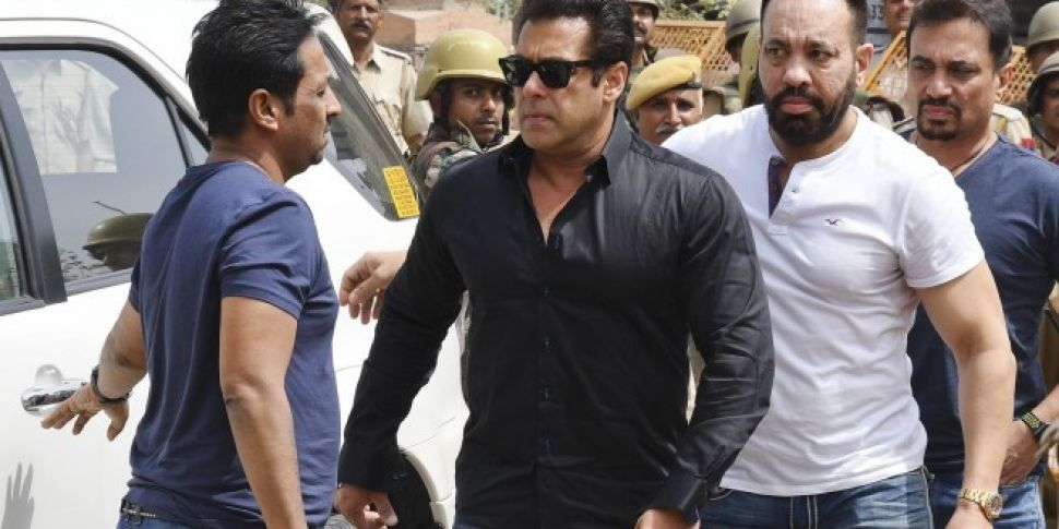 Bollywood star Salman Khan gra...