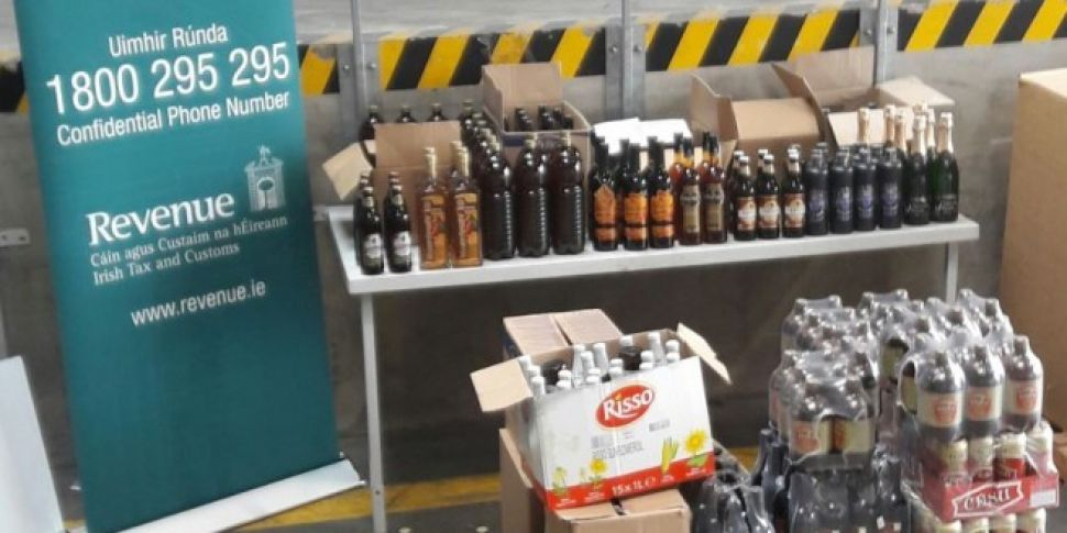 Hundreds of litres of alcohol...