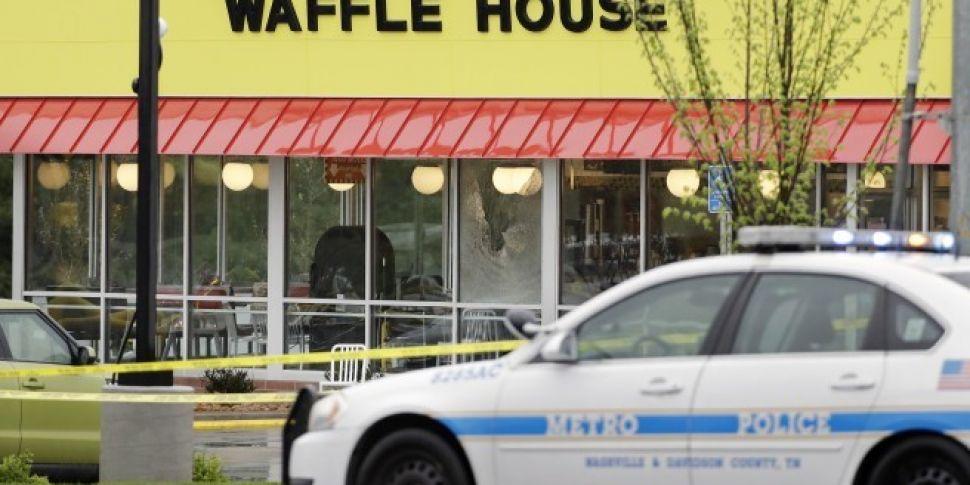 Manhunt underway after four pe...