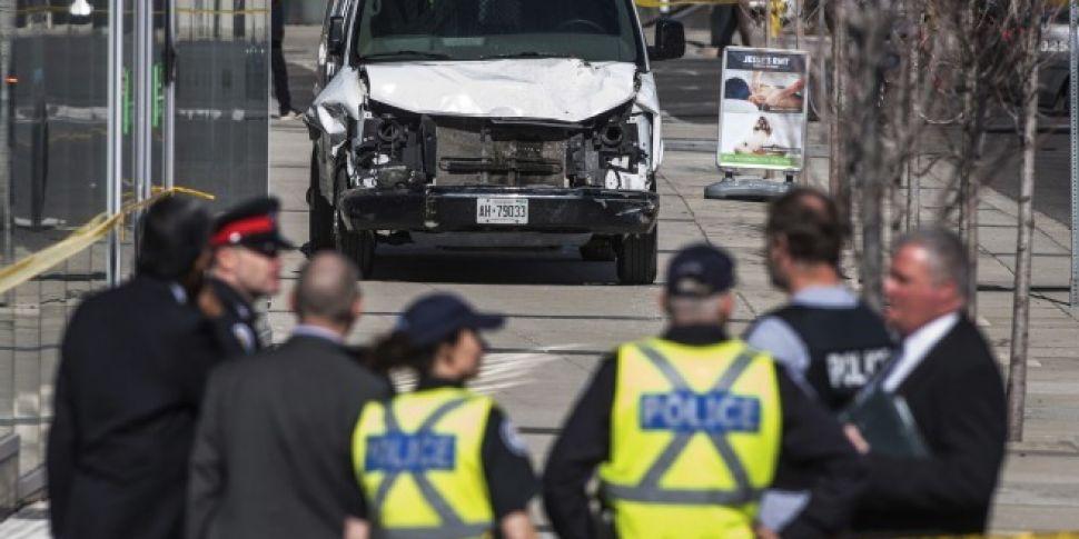 Nine dead after van hits pedes...