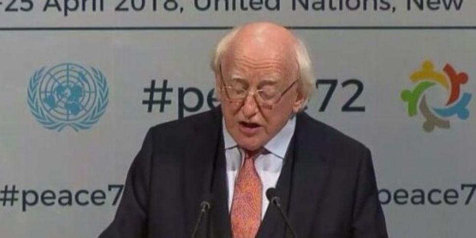 Michael D Higgins tells the UN...
