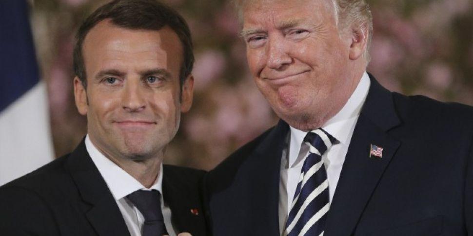 Macron urges Trump to keep US...