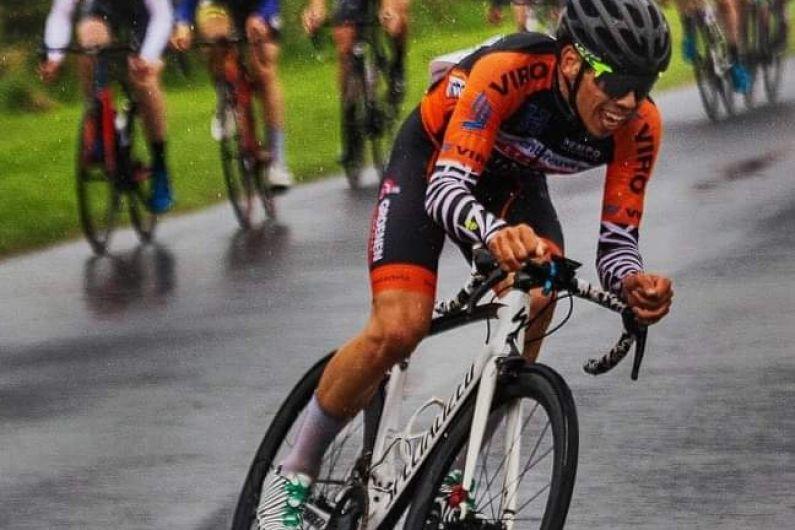 Cavan cyclist on his bike for Ireland