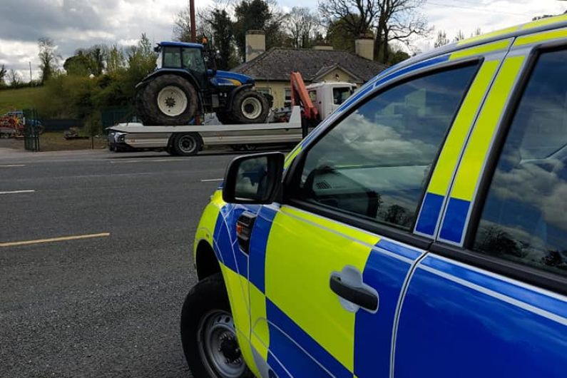 Uninsured and untaxed tractor seized by Gardaí in Cavan