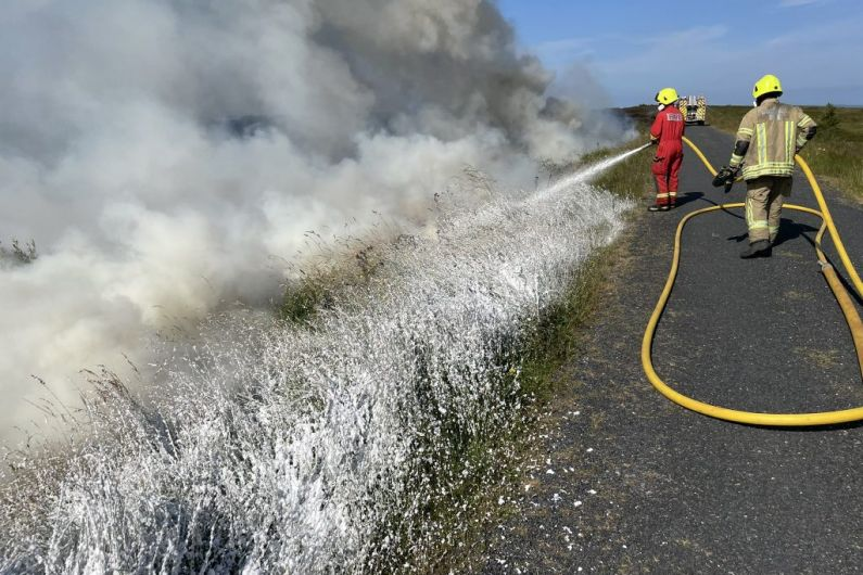 Emergency services attend gorse fire on Bragan Mountain