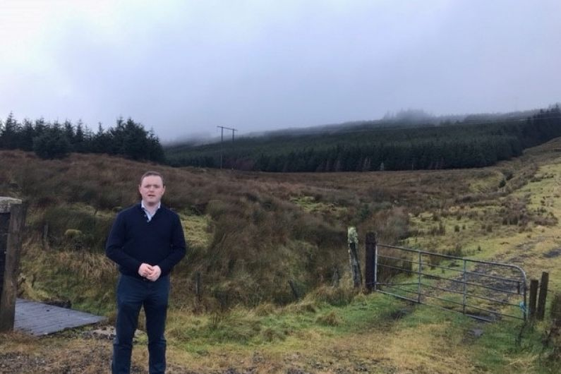 Work gets underway today on a new car park in Glan Gap for access to Cuilcagh Mountain