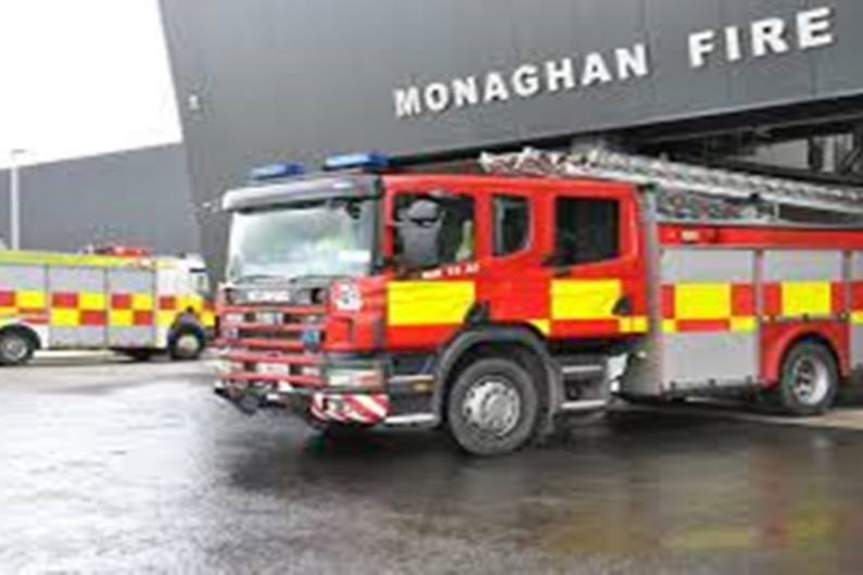 Monaghan Fire Service attend car fire at McNally's car park