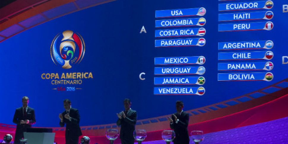 The draw for the Copa America...