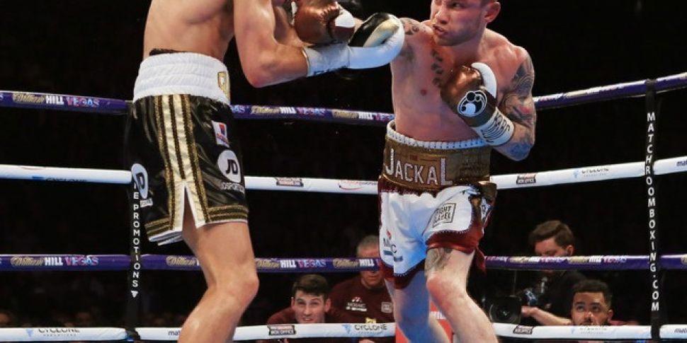 Scott Quigg fought with a brok...