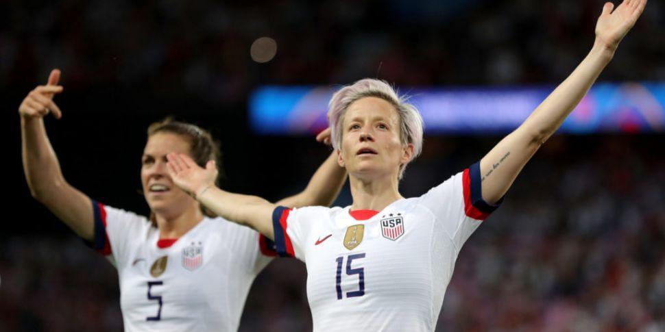 Rapinoe fires USA into World C...
