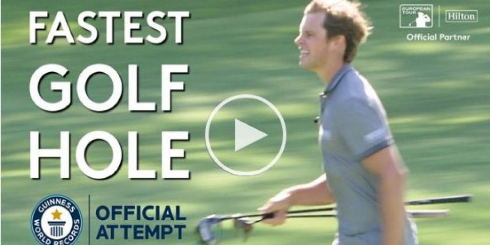 Watch: Four golfers try to bre...