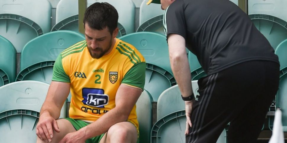 Donegal's Paddy McGrath facing...