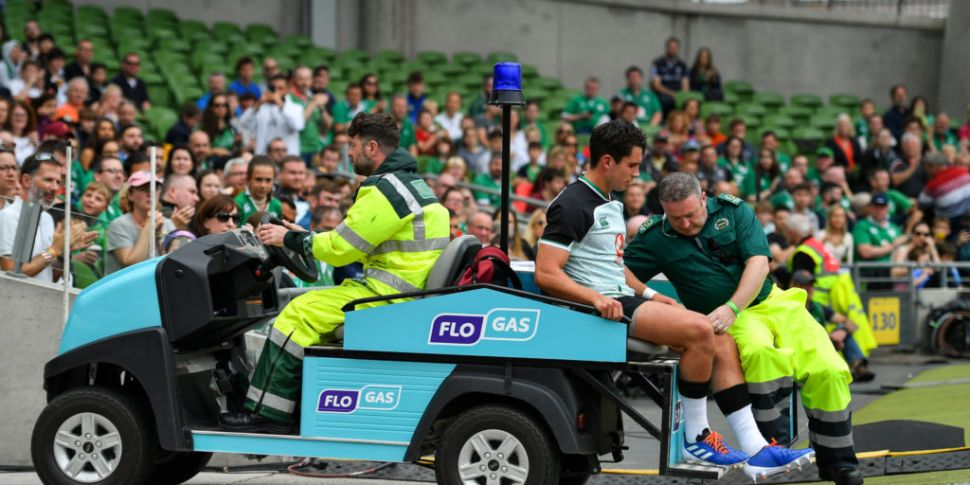 Ireland sweat on Carbery ankle...