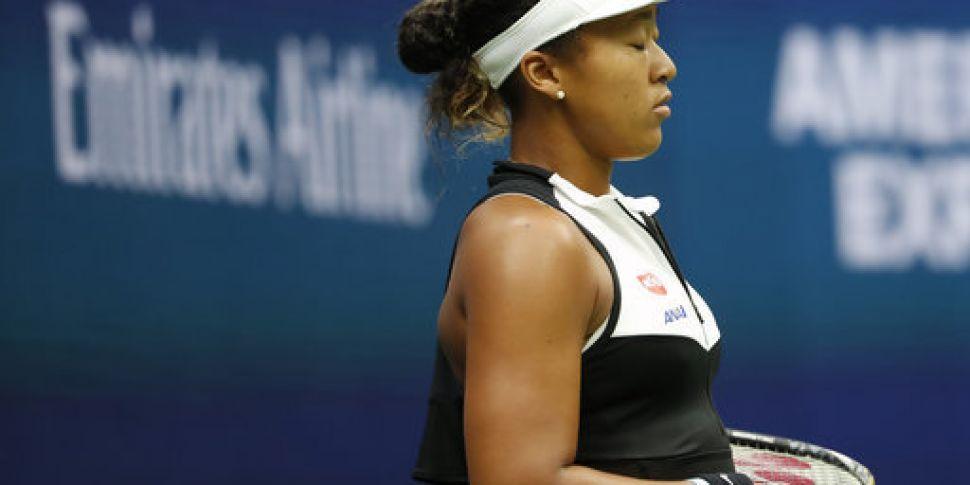 Reigning champion Naomi Osaka...