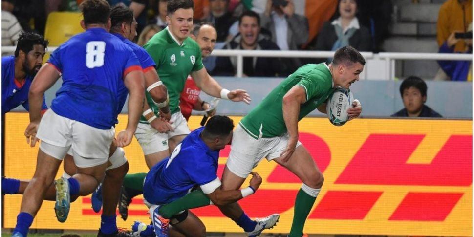 14-man Ireland hammer Samoa to...