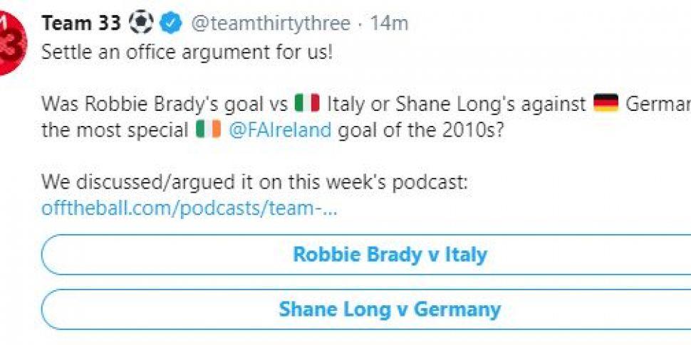 POLL | Robbie Brady's goal or...