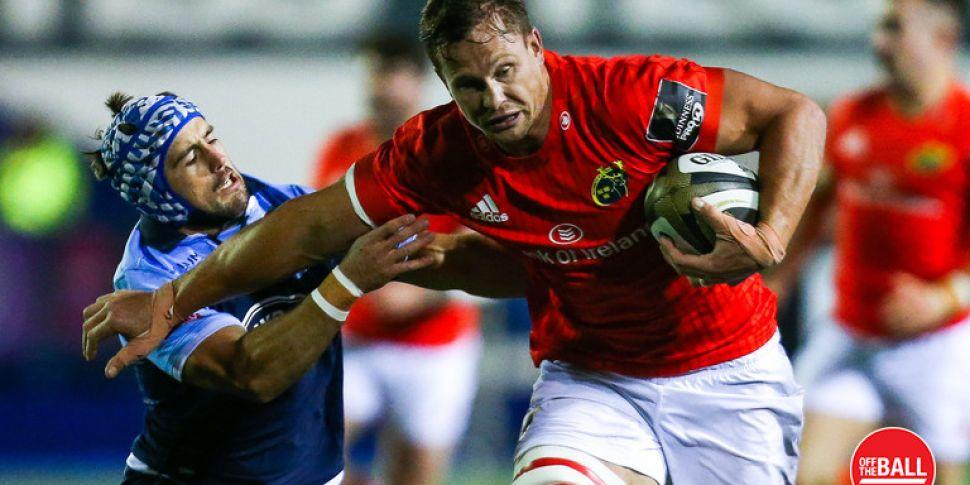 Munster's Arno Botha handed th...