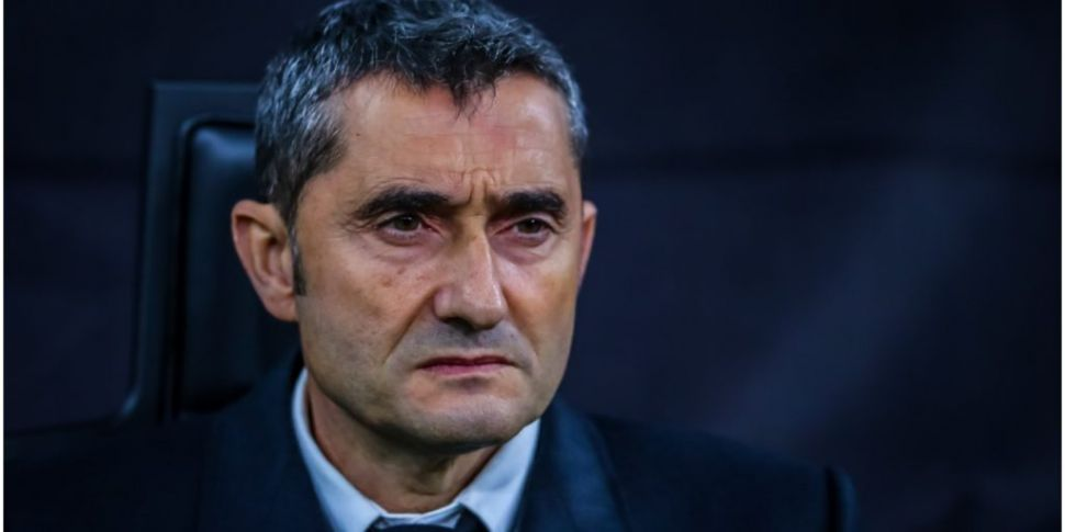 Barcelona sacked Valverde in a...