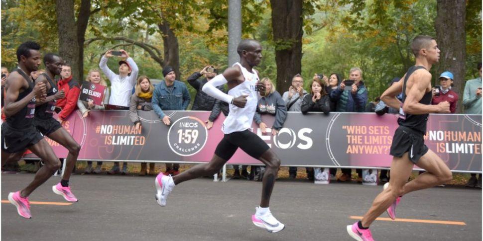 Kipchoge's marathon record sho...