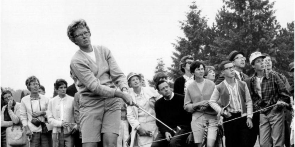LPGA Tour legend Mickey Wright...