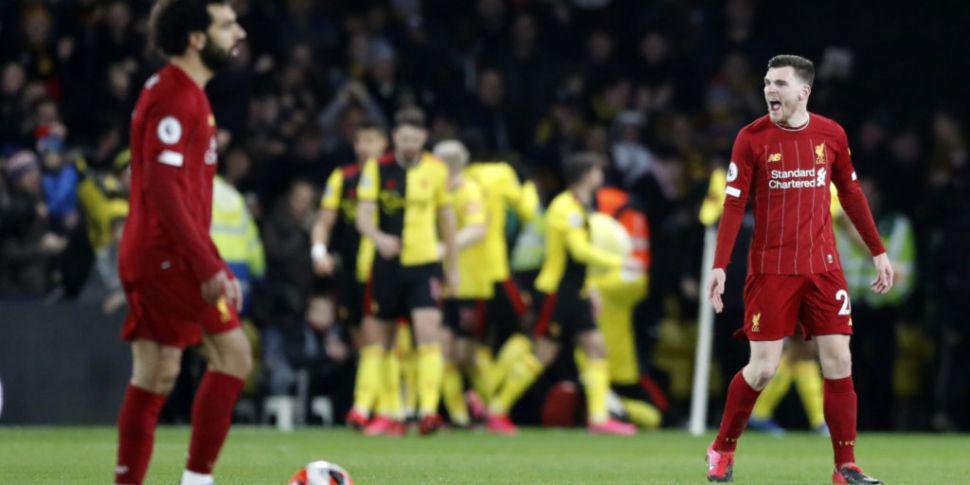 Liverpool's unbeaten run ends...