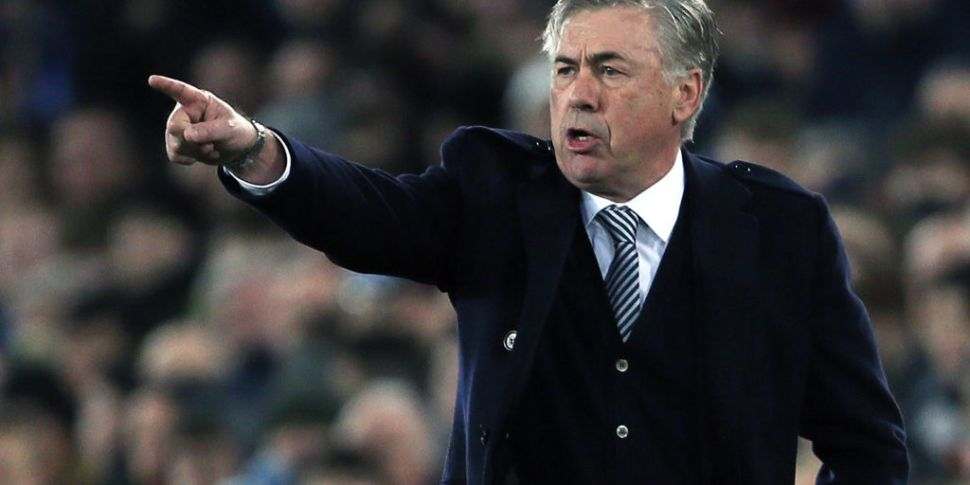 Everton boss Carlo Ancelotti d...