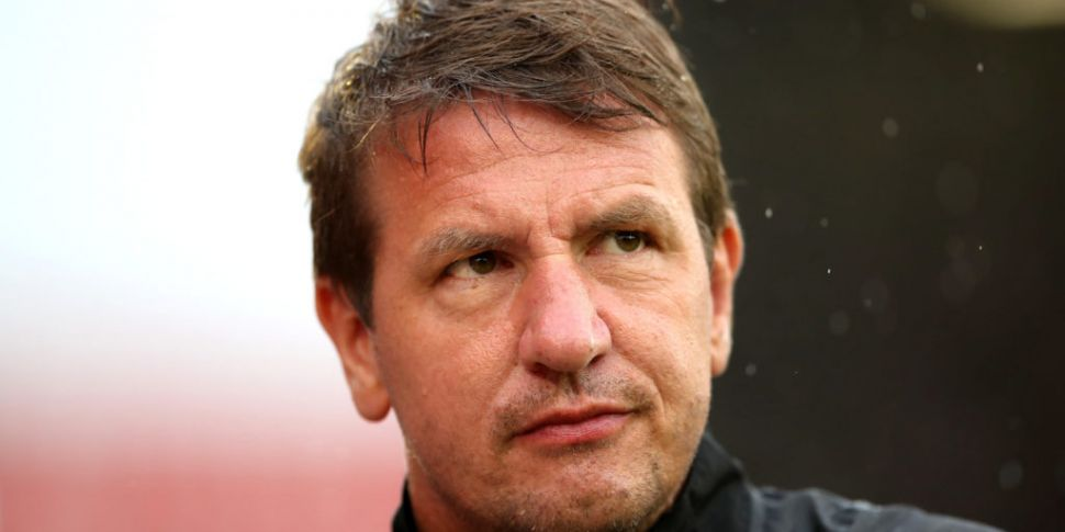 Hearts manager Daniel Stendel...