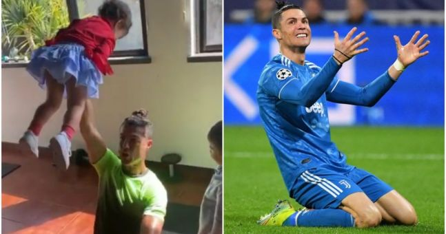 Watch Cristiano Ronaldo S Kids Steal The Show In At Home Workout Video Off The Ball