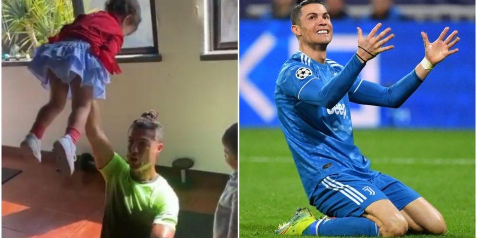 WATCH   Cristiano Ronaldo's ki...