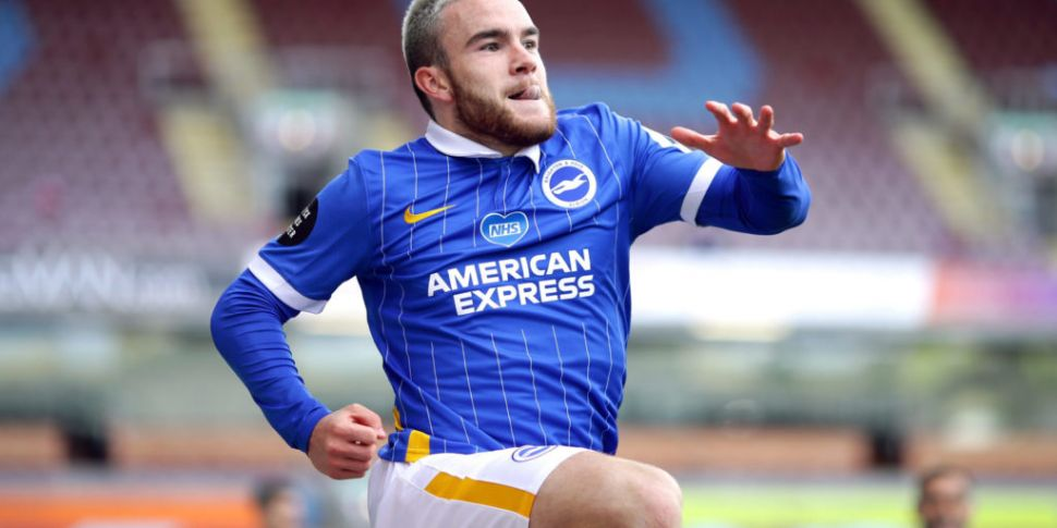 Ireland striker Aaron Connolly...