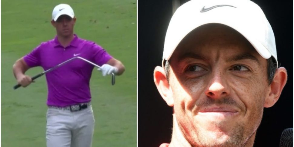 WATCH: Frustrated Rory McIlroy...