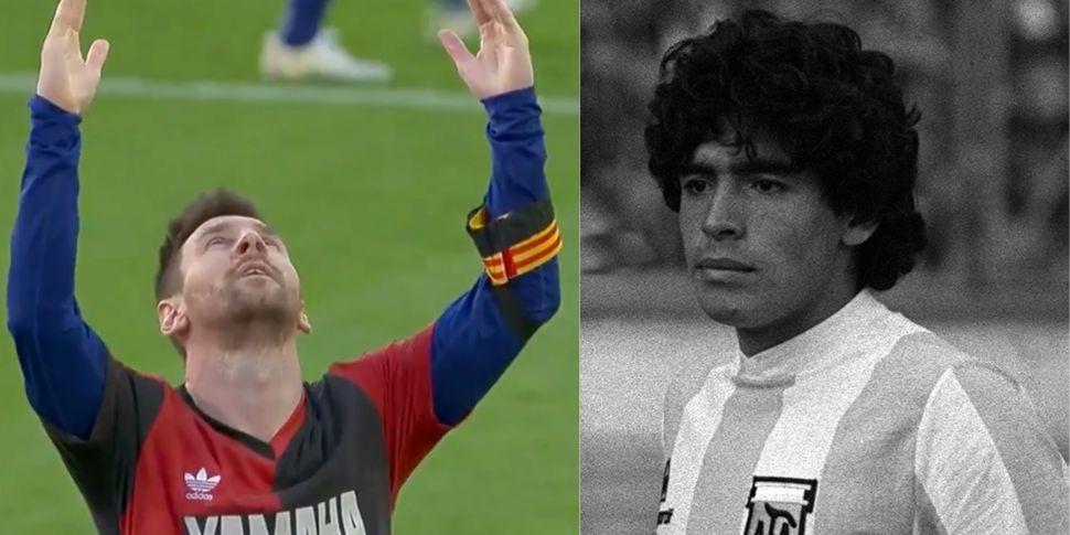 WATCH: Messi reveals tribute t...
