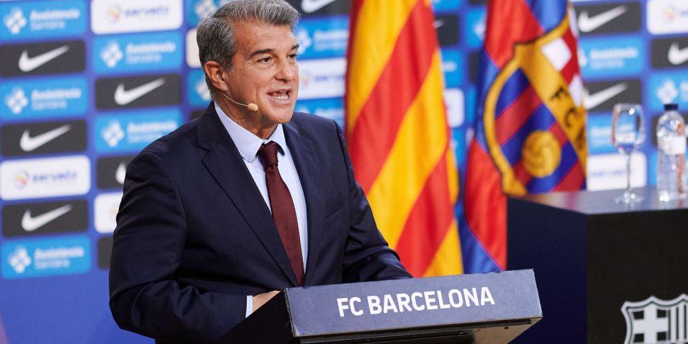 Barcelona president Laporta sa...