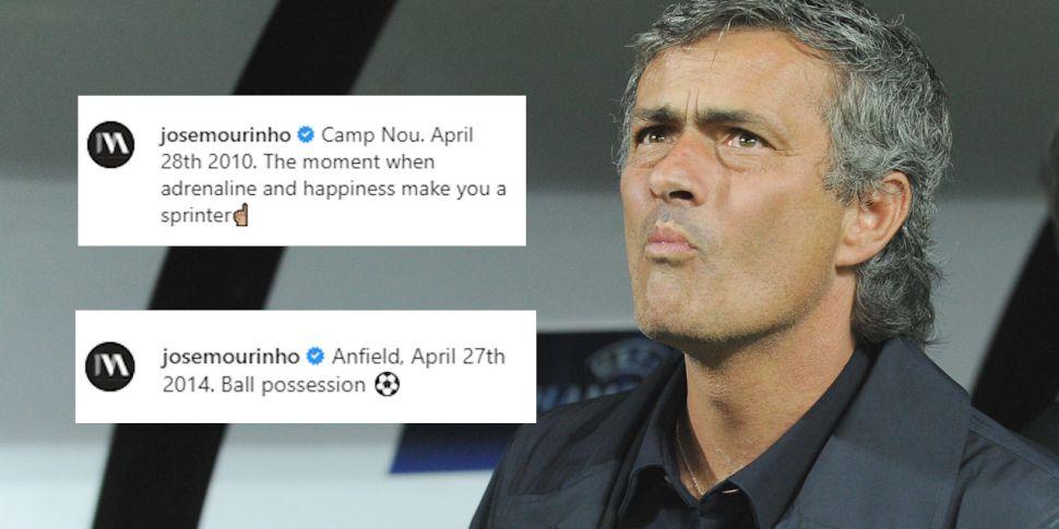 Jose Mourinho continues trolli...
