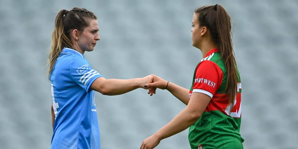 Mayo and Dublin Ladies Footbal...