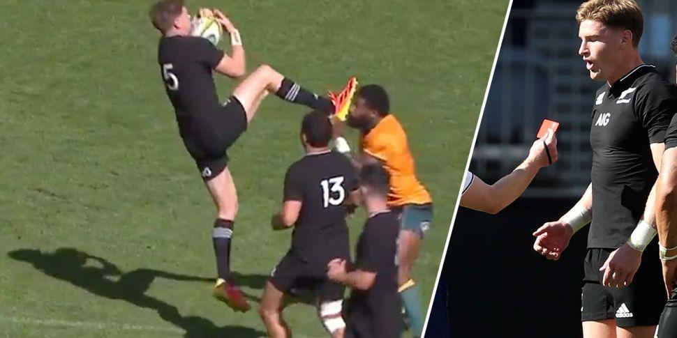 WATCH: Jordie Barrett red card...